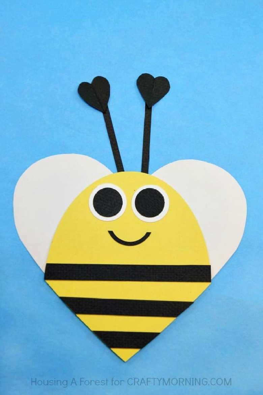 pyssel, pysseltips, pyssla, papper, papperspyssel, pyssla med papper, hjärta, bi, pappersbi