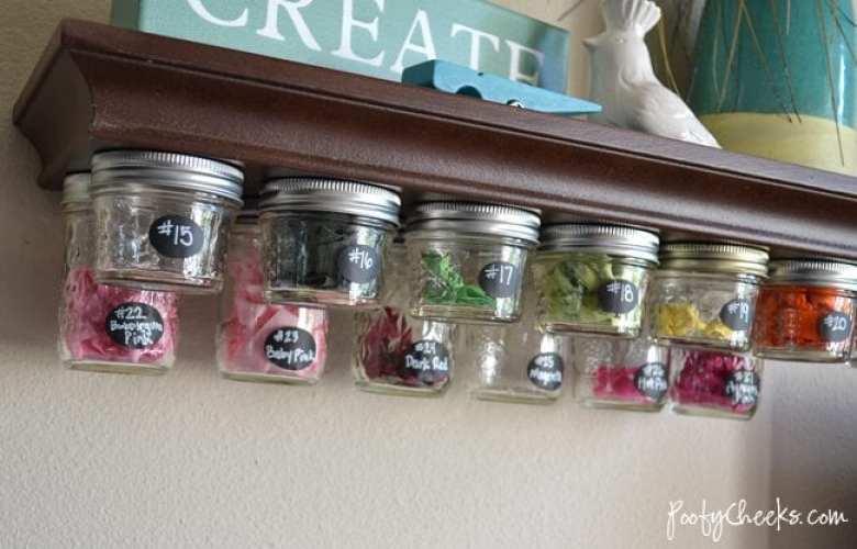 glasburk, glasburkar, mason jars, burk, förvaring, pyssel, pysseltips, pyssla, inredning, pysselidé, idé, idéer, skapa, tips, inspiration, förvaring, hylla, förvaringshylla