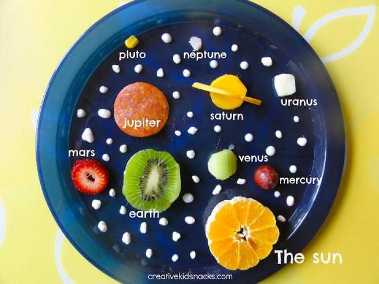 pyssel, pysseltips, pysselidé, barnpyssel, pyssel för barn, rymden, solsystem, frukter, grönsaker, kreativ mat