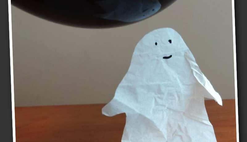 experiment, experiment för barn, naturvetenskap, NO, pyssel, pyssel för barn, barnpyssel, halloween, halloweenpyssel, spöken, pyssla spöken