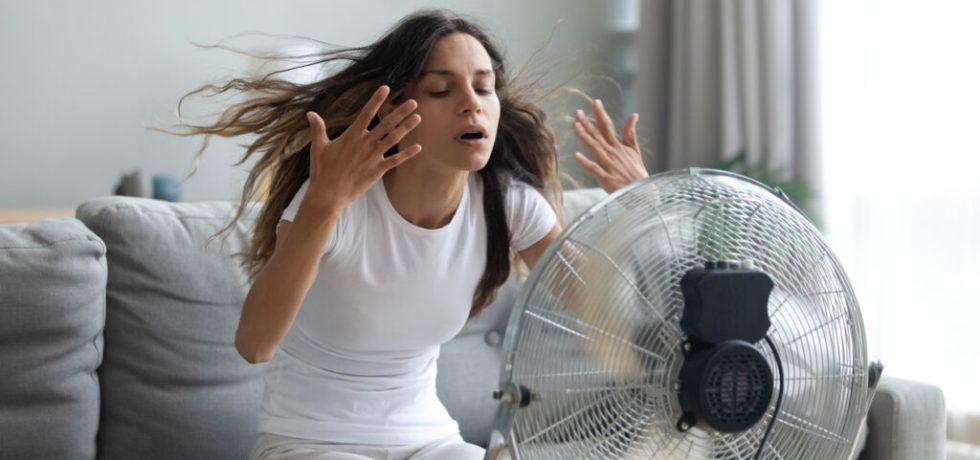 få svalt hemma i värmen