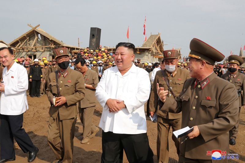 North Korea's Kim Inspects Reconstruction in Flood-Hit Area - State Media  KCNA   World News   US News