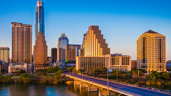This city, famous for its pink state capitol building and its music festival, is top of the list for where a paycheck goes farthest. (Photo: iStock)