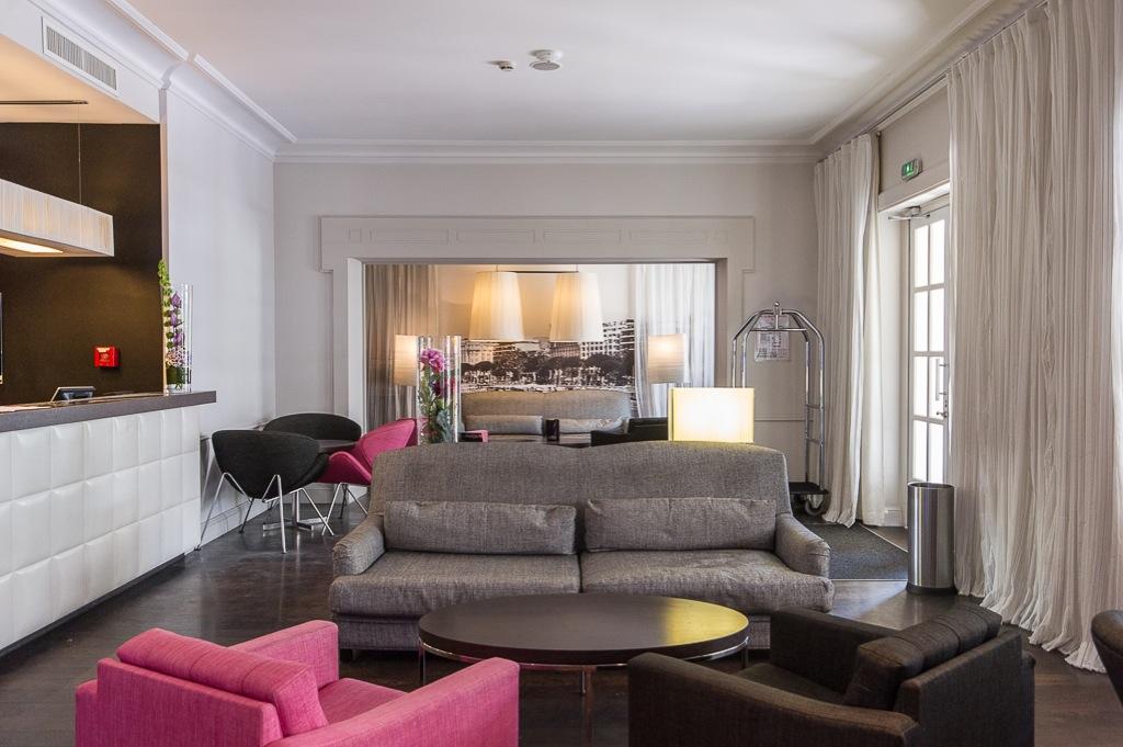 Shooting photos immobilier d'hôtel - salon hôtel à Cannes