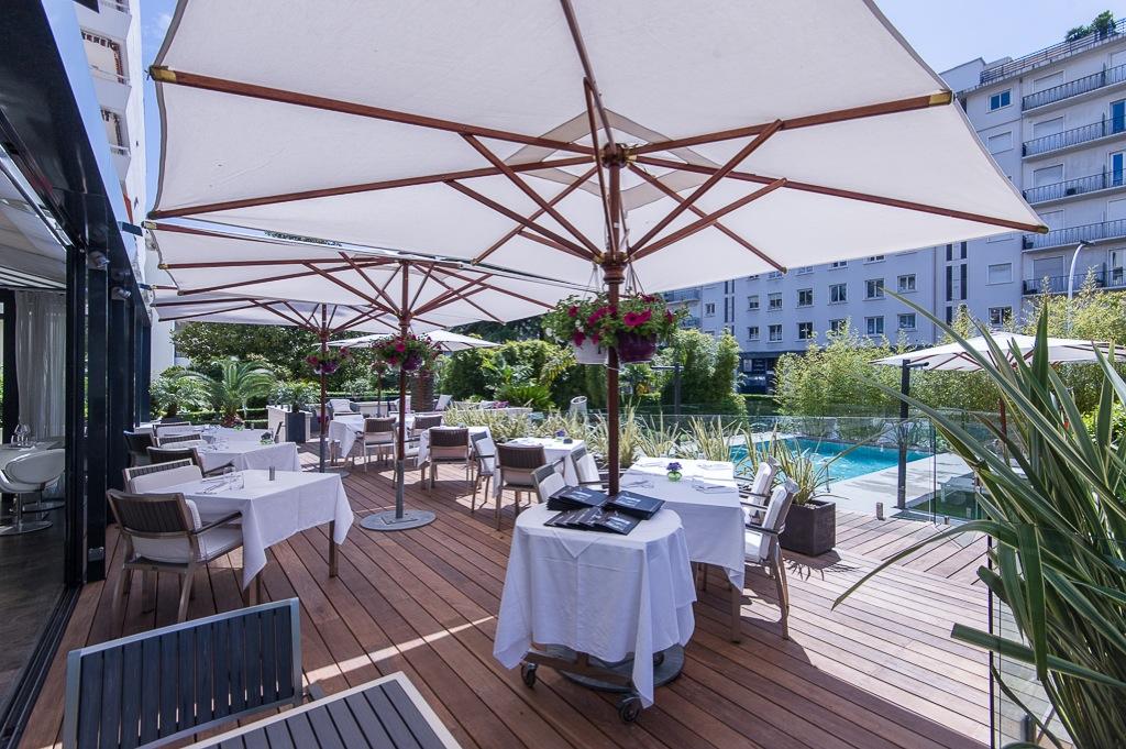 Shooting photos immobilier d'hôtel - terrasse à Cannes