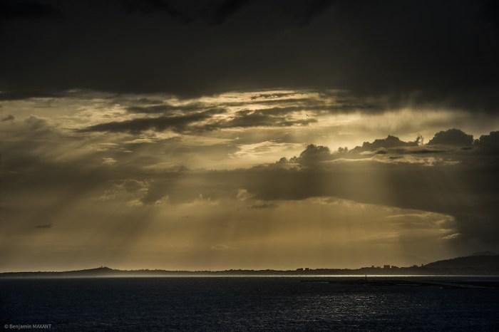 Coucher de soleil sur la Baie des anges