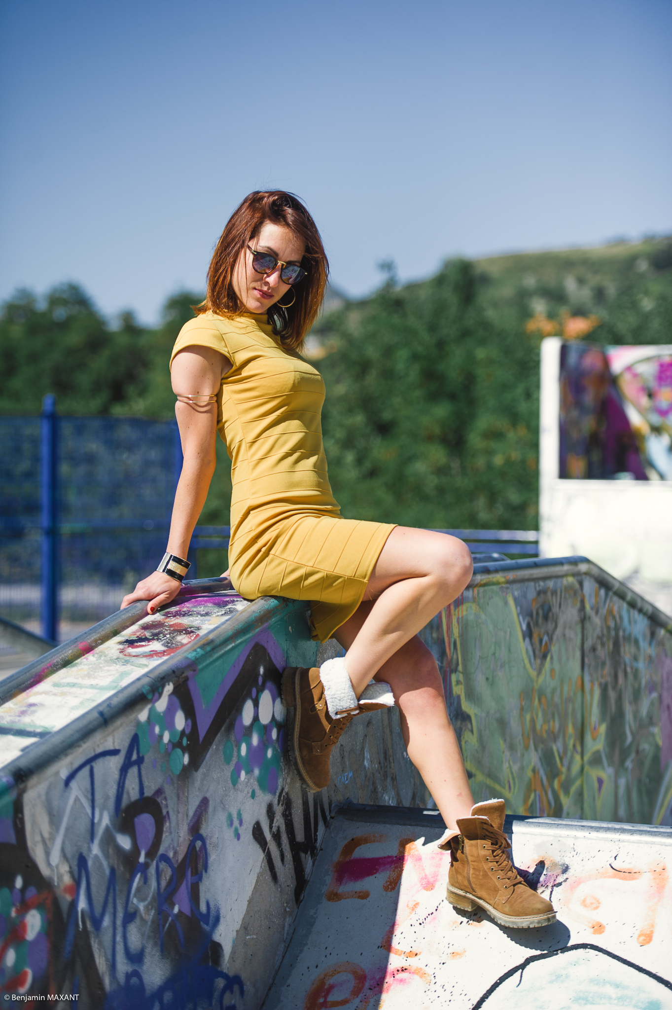 Fashion photo shoot with Mathilde in Digne-les Bains