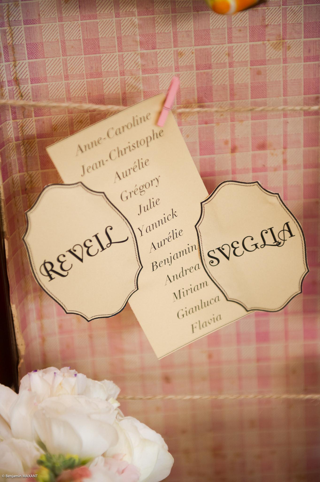 Plan de table du mariage de Valentinee et Nicholas