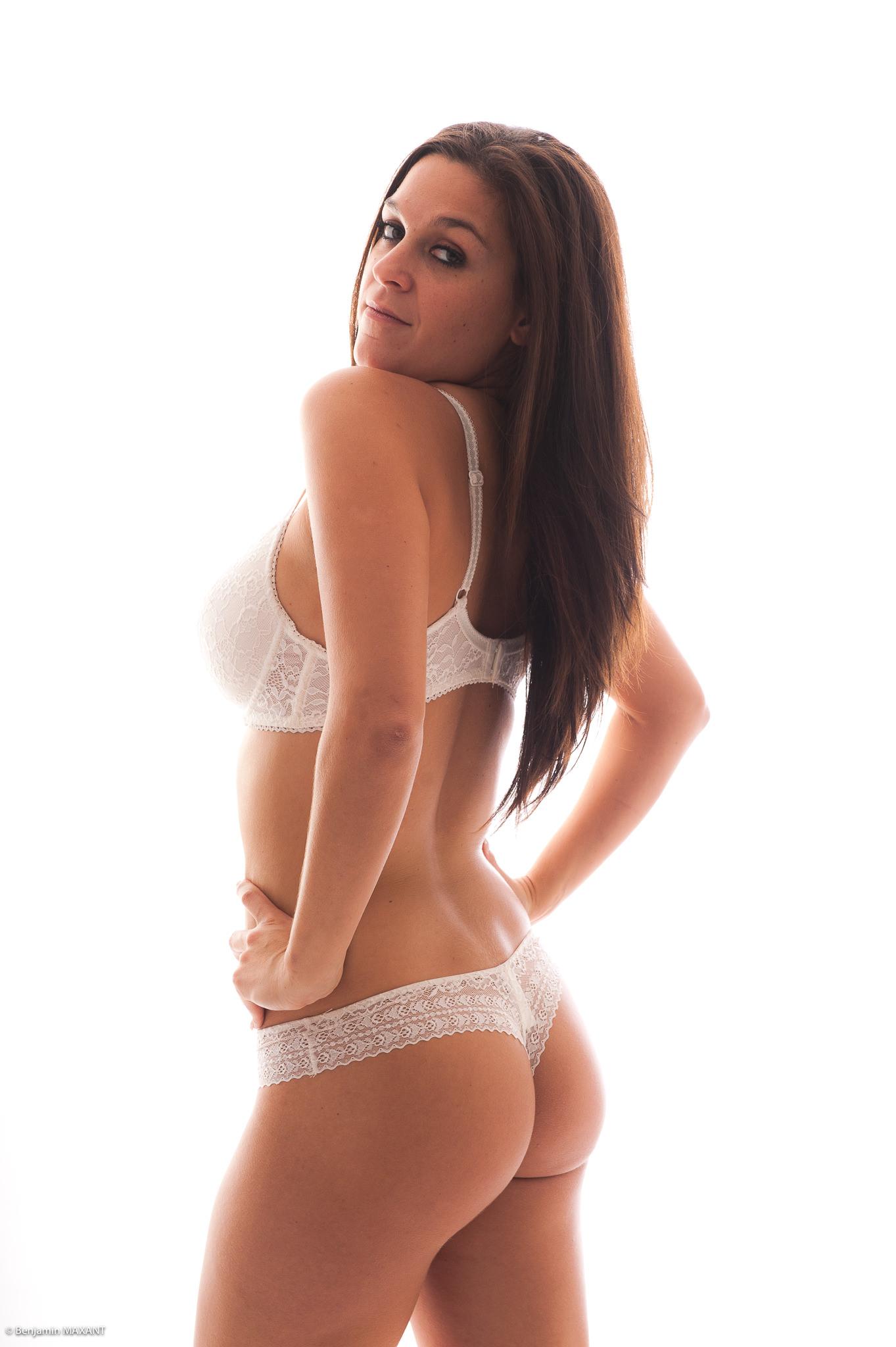 Séance photo lingerie en studio de type Aubade
