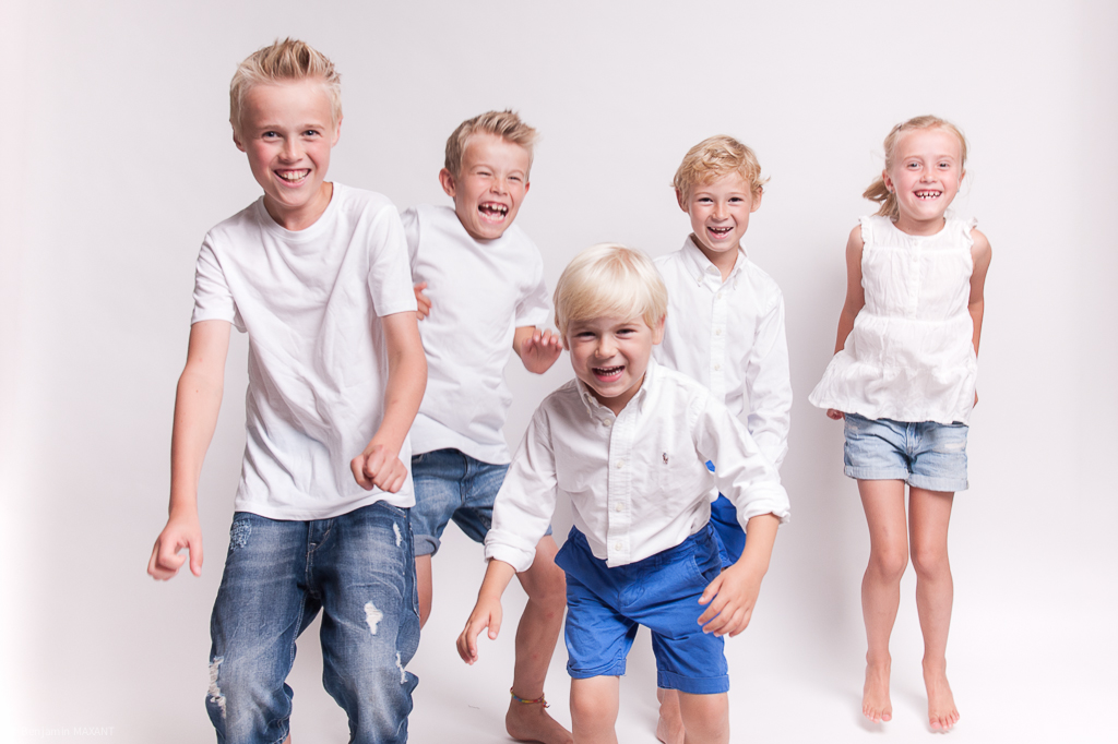Family photo shoot in the studio