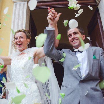Mariage : sortie de l'église