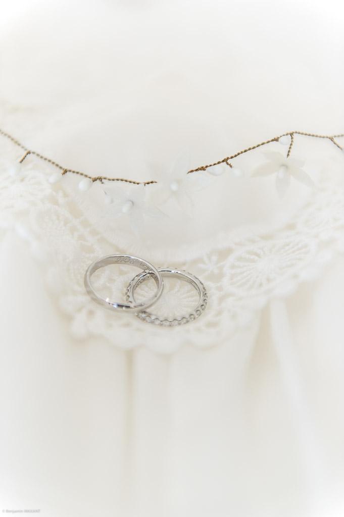 The wedding dress wedding rings