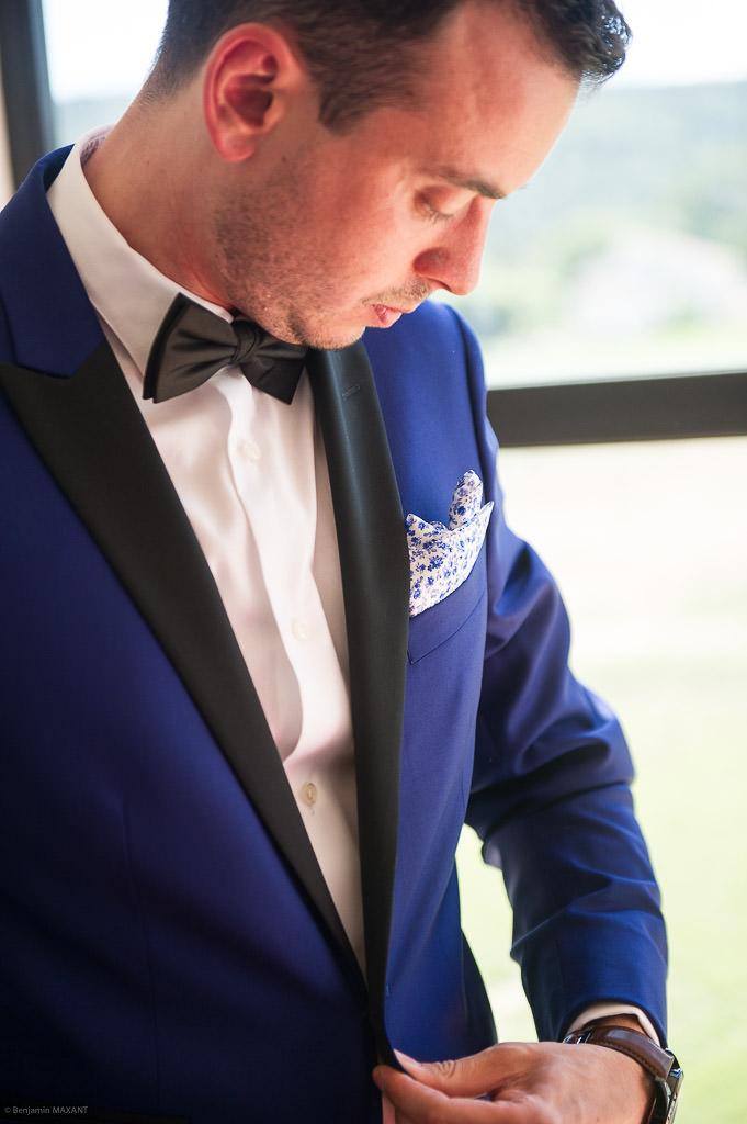 Preparing the groom