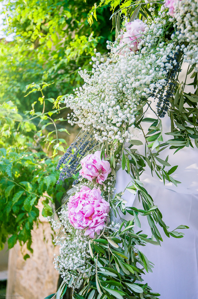The floral decoration of the wedding
