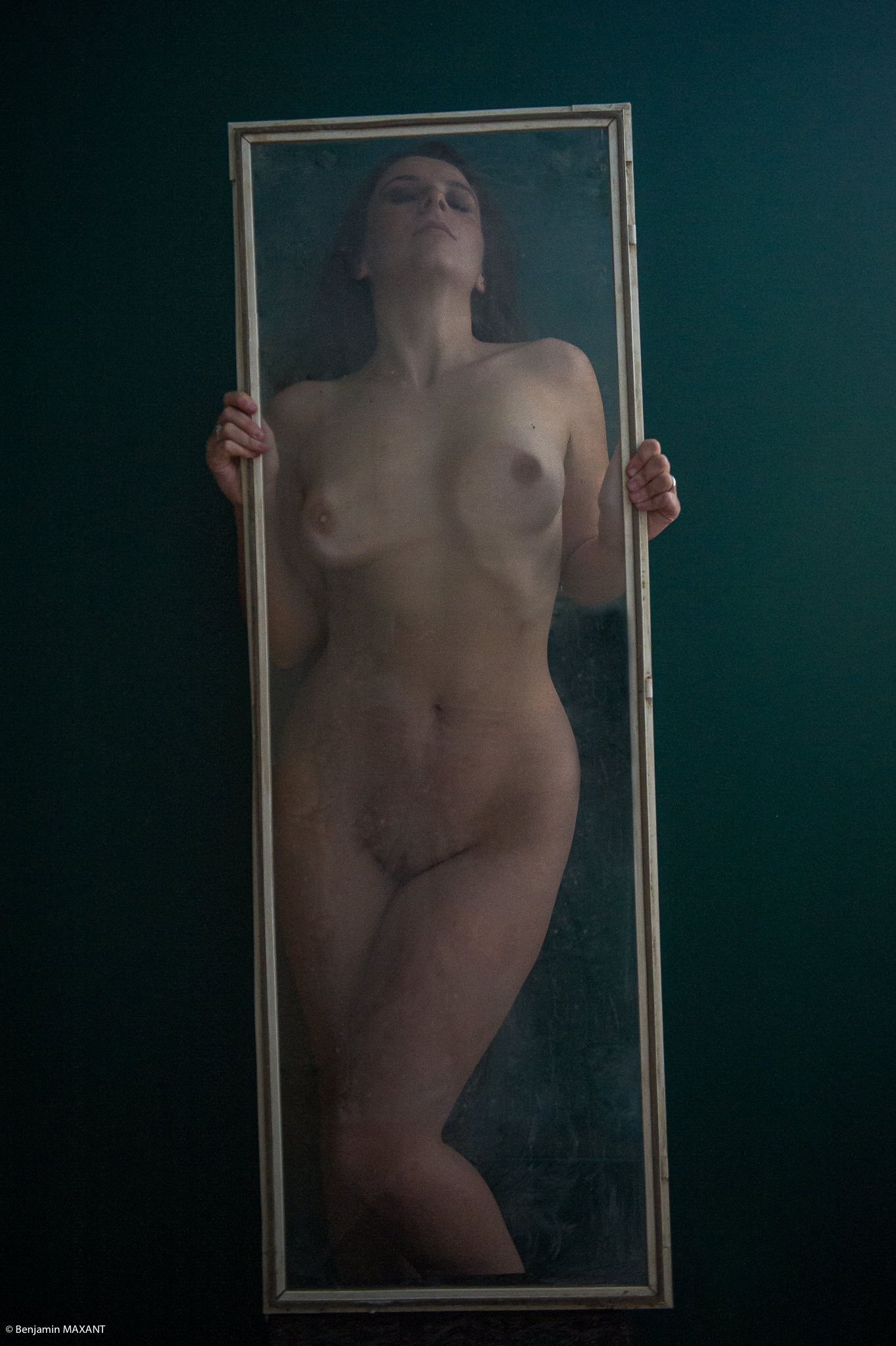 Artistic nude glass photo shoot