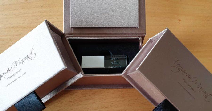 Coffret clé USB de mariage