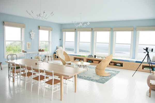 Benjamin Moore Color of the Year Breath of Fresh Air living area