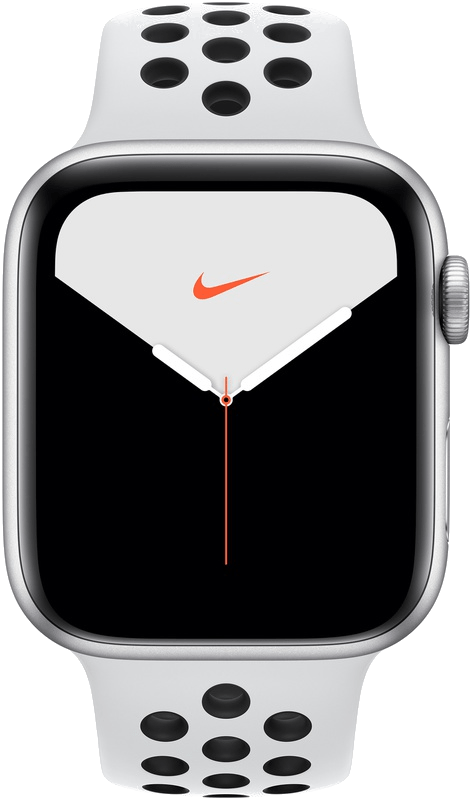 Apple Watch Series 5 Nike+ 44mm (GPS+Cellular) (Silver Aluminium) at £30.00 on Smartwatch (24 Month(s) contract) with UNLIMITEDMB of 4G data. £28.00 a month.