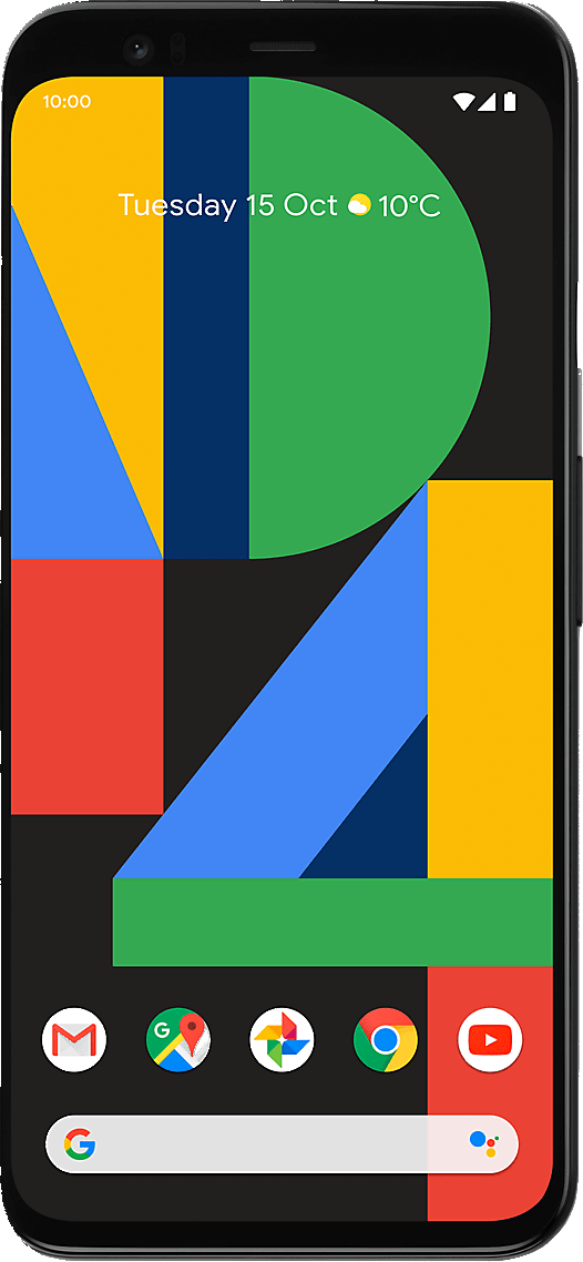 Google Pixel 4 (64GB Clearly White) at £10.00 on 4G Essential Unlimited (24 Month(s) contract) with UNLIMITED mins; UNLIMITED texts; UNLIMITEDMB of 4G data. £59.00 a month. Extras: EE: Service Pack Benefits.