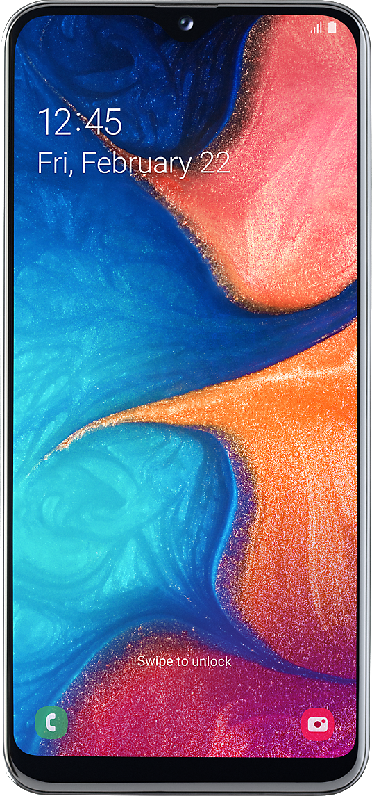 Samsung Galaxy A20e (32GB White) on 4G Essential 1GB (24 Month(s) contract) with UNLIMITED mins; UNLIMITED texts; 1000MB of 4G data. £19.00 a month. Extras: EE: Service Pack Benefits.