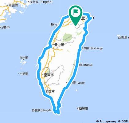 10/7~10/13_大環島路線   Bikemap - Your bike routes