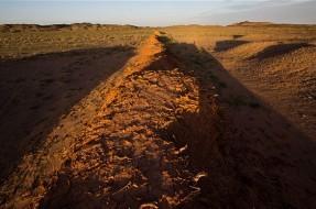 Imagen:Parte de la muralla recientemente descubierta | Lindesay