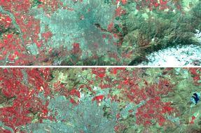 Imagen:Santiago | Landsat NASA