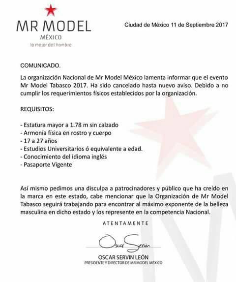 Mr Model Tabasco | Facebook