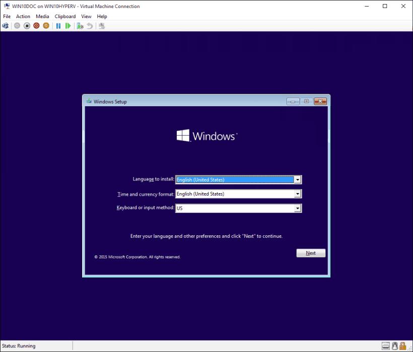 Windows 10 virtuell maskin installation