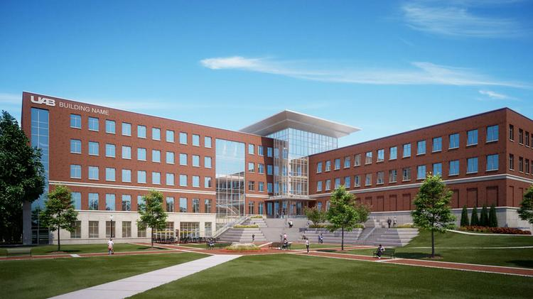 A rendering of the new Arts & Sciences Building set for construction at UAB.