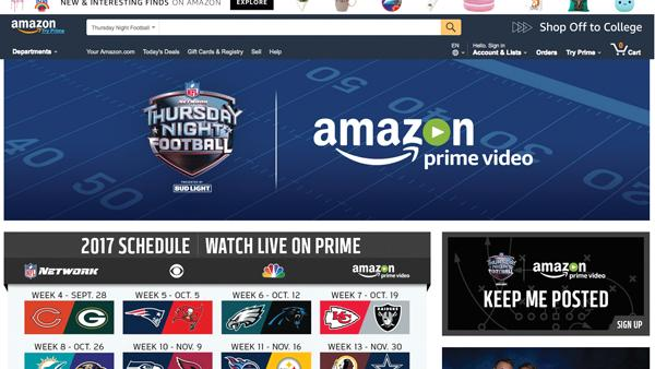 The nfl announced monday that its agreement to air thursday games exclusively through amazon prime video will begin a year earlier than. Amazon Gives Nfl Global Feel The Business Journals