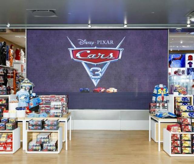 The Disney Store In Northridge California Features A Giant Storefront Screen That Will Livestream
