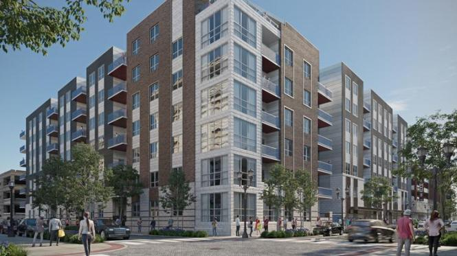 An Updated Exterior Rendering Of The Edge On Fourth Apartment Complex South Street In