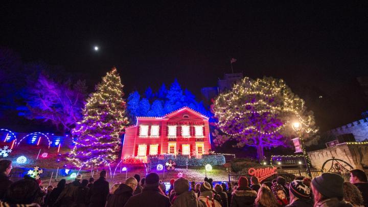 Miller Brewery Christmas Lights