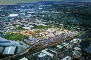 Bay Meadows is proceeding with its second phase. When complete, the project will bring 1,200 housing units and 90,000 square feet of retail space.
