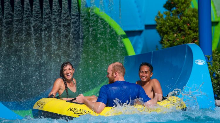 SeaWorld's Ray Rush is the latest attraction at the Aquatica Orlando water park.