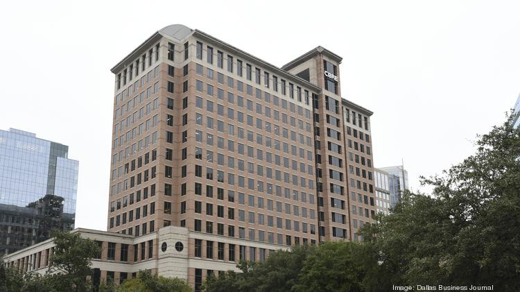 2100 McKinney Ave. in Uptown is the corporate headquarters of CBRE after the company relocated headquarters from Los Angeles to Dallas in October.
