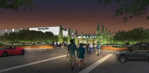 A view looking at the new Bloomingdale's. Click above to see the layout of the planned new buildings.