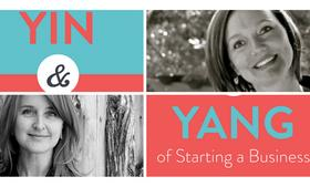 The Yin & Yang of Starting a Business by authors Misty Gibbs, top right, and Tanya White.