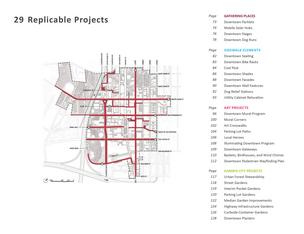 "The Downtown San Jose Street Life Plan (DSJSLP) proposes a menu of 29 ""a la carte"" district-wide projects; it identifies 11 focus areas for these projects: Streets and routes of significant importance to the improvement of Downtown's public realm."