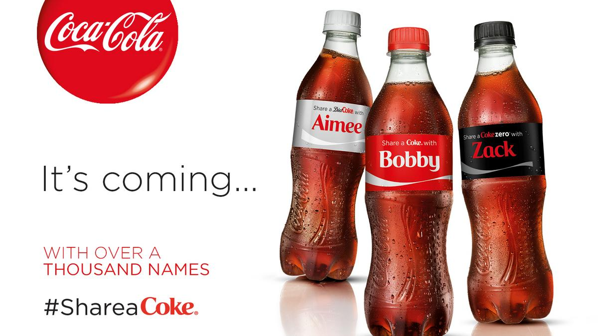 Coca Cola Boosting Share A Coke Campaign In US