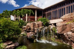 The exterior of the Hotel Wailea on Maui.