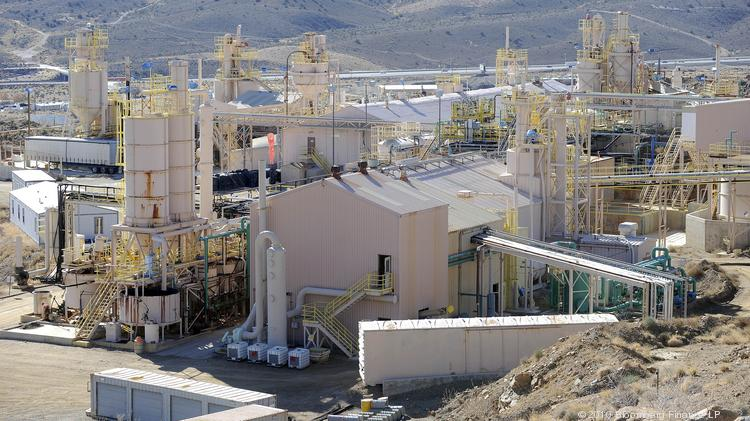 The Molycorp open pit mine in Mountain Pass, California, which is suspending production next month.