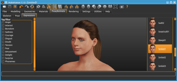 MakeHuman 1.1.0 adds new posing and expressions system ...