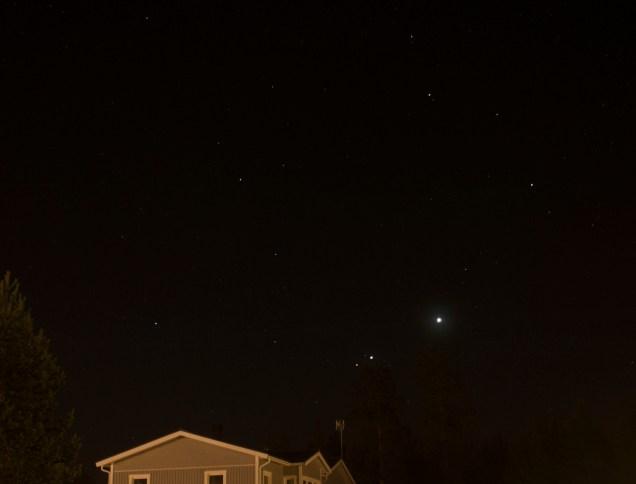 Mars, Venus och Jupiter
