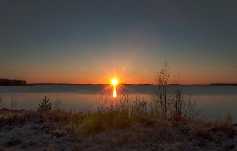 Solen en kvart efter uppgången 30 okt 2016