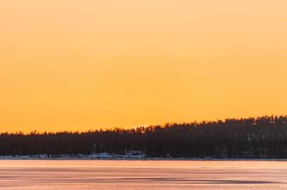 Solen gick ned bakom Mörön