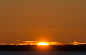 Solen halvvägs uppe den 30 okt 2016
