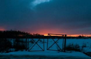 Solens nedgång grindar
