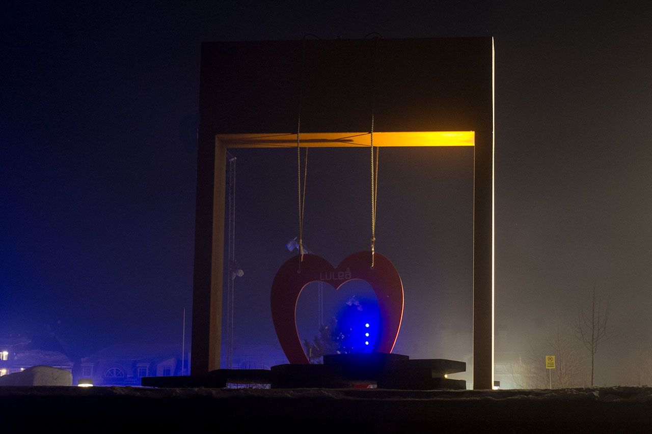 Luleå i kvällsljus - av Eva